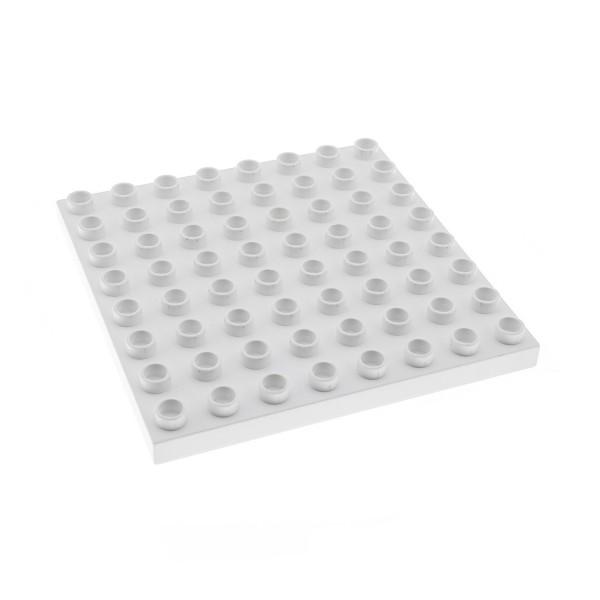 1x Lego Duplo Bau Basic Platte weiß 8x8 Polar Eis Zoo 4974 9226 4246958 51262