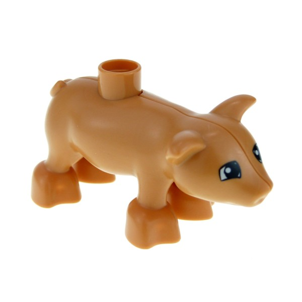 1 x Lego Duplo Tier Ferkel flesh rosa orange Kleine Sau Baby Schwein Bauernhof 4561116 pig03pb01