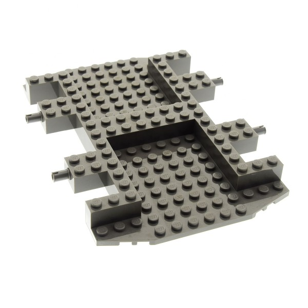 1 x Lego Fahrgestell alt-dunkel grau LKW 12 x 18 Chassis Vehicle Car Base Rock Raiders 4970 30295