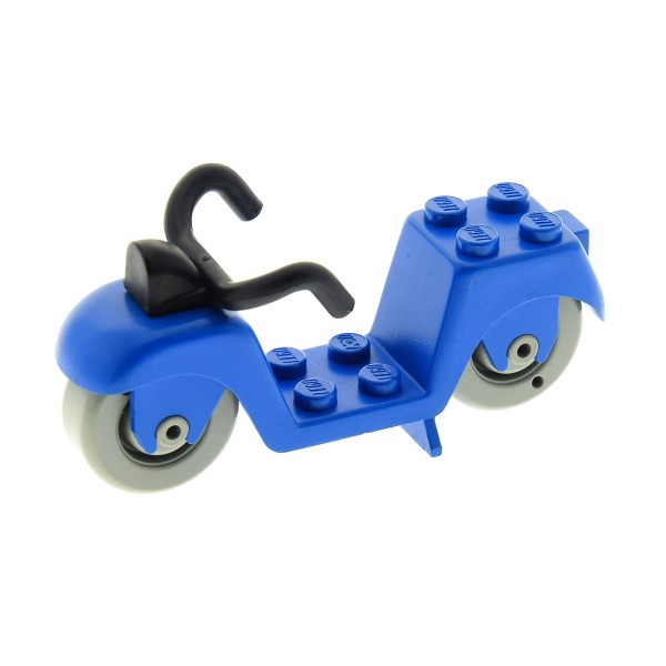 1 x Lego System Fabuland Fahrzeug Motorrad blau Scooter Roller 3664 3670 fabac3