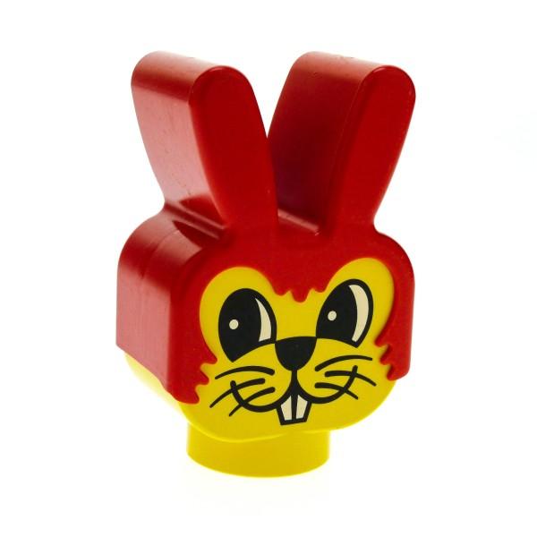 1 x Lego Duplo Primo Tier Kopf gelb rot für Hase Figur Motiv Stein Baby Baustein dupbunnyhead