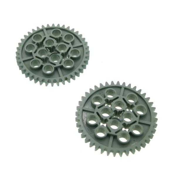 2 x Lego Technic Zahnrad alt-hell grau 40 Zähne Zahnräder z40 Technik Gear 40 Tooth 8479 951 3649