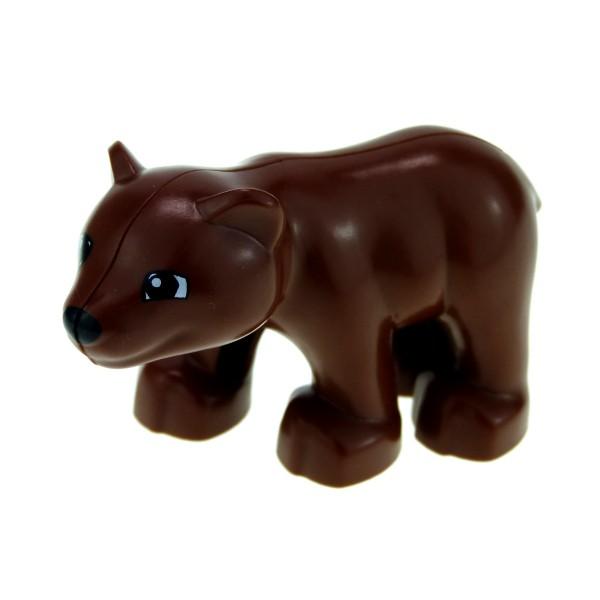 1 x Lego Duplo Tier Baby Bär klein reddish rot braun Jungtier Zoo Zirkus Tierpark neue Form 4538562 84697 bearcubc01pb01