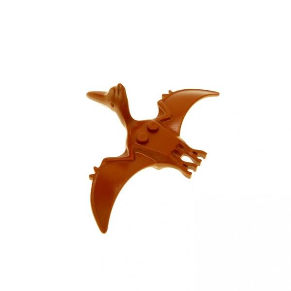1 x Lego System Tier Flugsaurier dunkel orange braun Pteranodon Flug Dino Dinosaurier 5987 5935 Dino Island Adventurers 30478