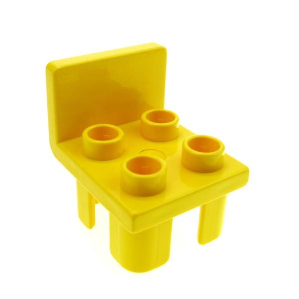 1 x Lego Duplo Stuhl gelb 4 Noppe Sitz Stühle Küche Wohnzimmer Schlafzimmer Puppenhaus Möbel 647824 6478