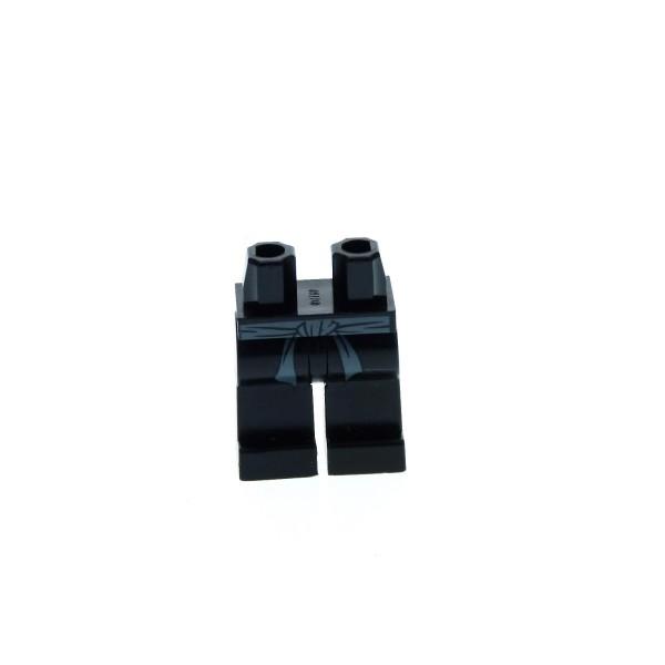 1 x Lego System Beine Hose Figur Mann Ninjago Cole schwarz bedruckt mit Gürtel grau Ninja für njo006 970c00pb095