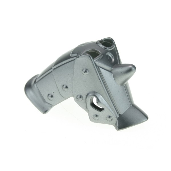 1x Lego Duplo Pferd Kopf Rüstung metallic silber grau Helm 4864 4252568 51709