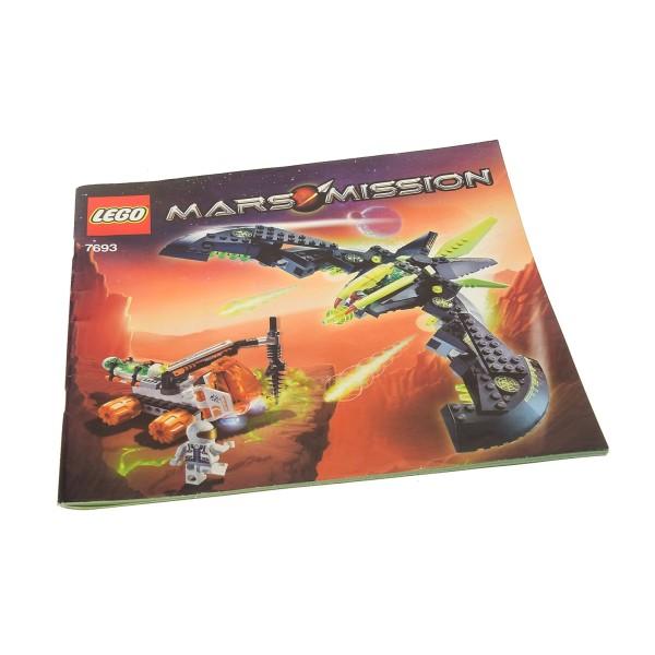 1 x Lego System Bauanleitung Space Mars Mission ETX Alien Strike Raumschiff 7693