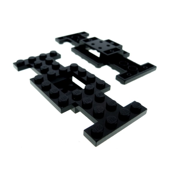 2 x Lego System Fahrgestell schwarz 4x10x2/3 LKW Unterbau Platte Auto Chassis 4212b