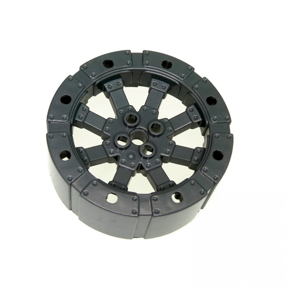 1 x Lego Wagen Rad neu dunkel grau 55 D Burg Ritter 7020 8942 8942 7021 55817