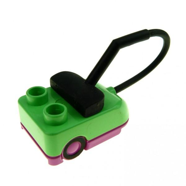 1 x Lego Duplo Staubsauger medium grün pink Puppenhaus Möbel Figur Zubehör Vacuum Cleaner 6509