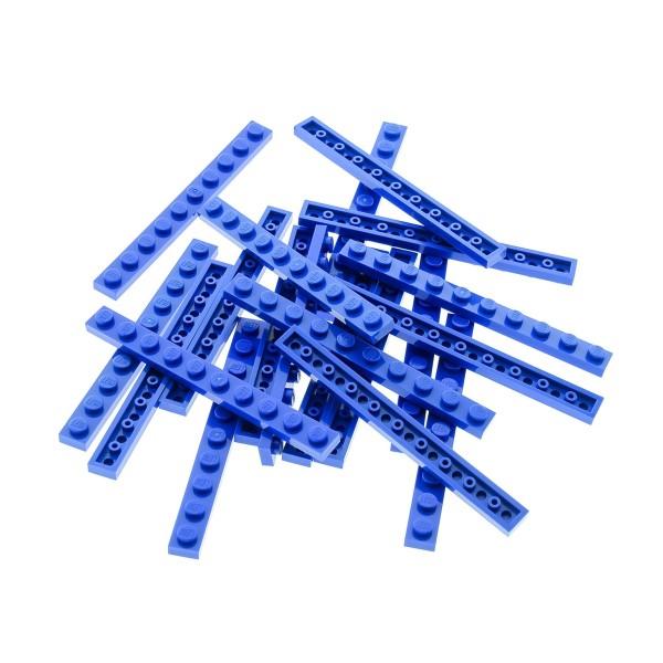 20 x Lego System Leiste Basic Bau Platte Stein 1x10 blau Steine Set 1818 31011 10177 9499 6986 10131 7191 70905 447723 4477