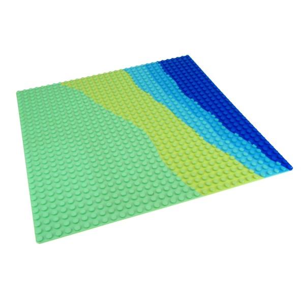 1 x Lego System Bau Platte hell grün gelb blau 32 x 32 Noppen Insel flach Wasser Strand 32x32 für Set 6411 3811px1