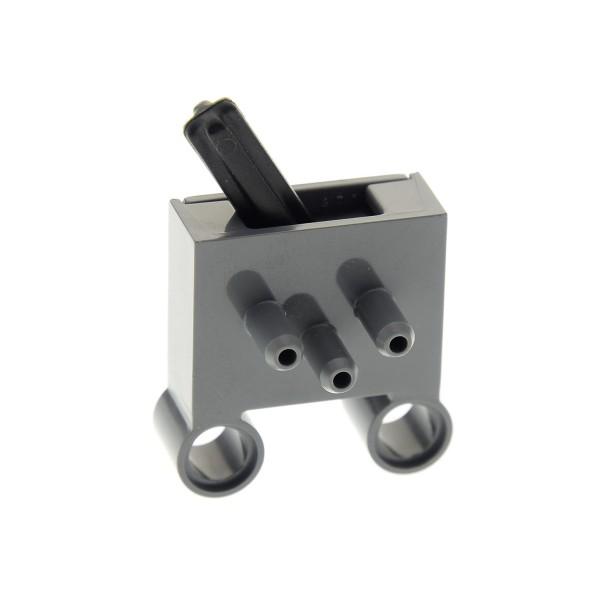 1 x Lego Technic Pneumatic Ventil neu-dunkel grau Schalter 3 Wege Umschaltventil Technik Typ1 8110 8285 8436 4237158 4694bc01