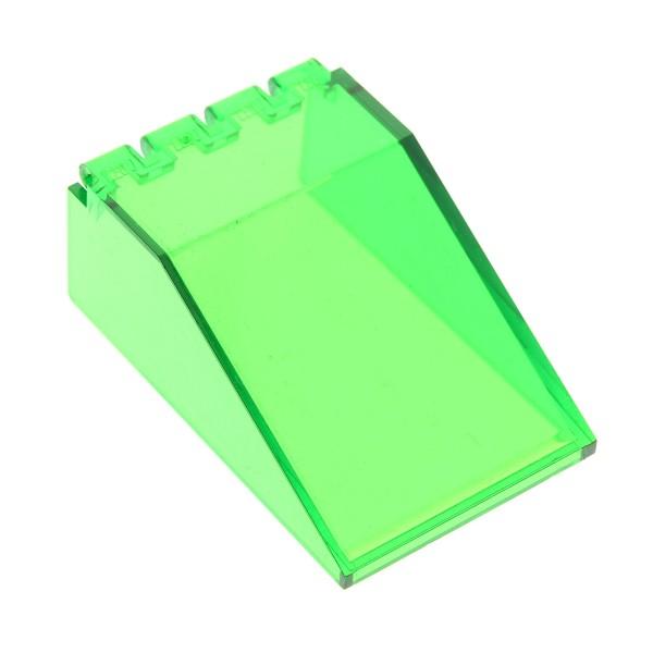 1 x Lego System Cockpit transparent grün 6x4x2 Windschutzscheibe Raumschiff Kanzel Kuppel Fenster Windscreen 6940 6891 4474