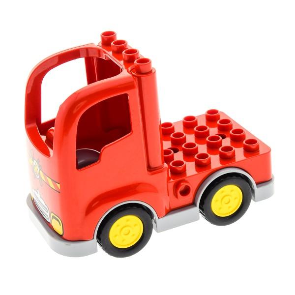 Lego Duplo Feuerwehr LKW Truck Rot