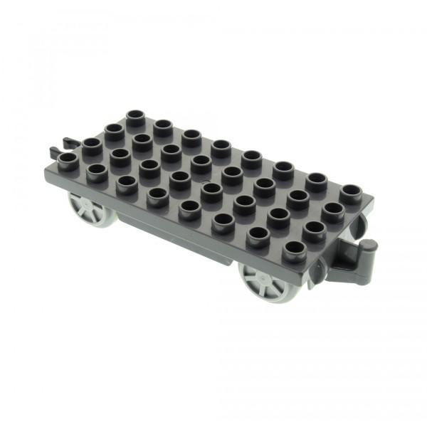 1 x Lego Duplo Eisenbahn Anhänger neu-dunkel grau 4x8 Räder neu-hell grau für Zug Cargo Waggon Set Thomas und seine Freunde 3354 5554 31300c03