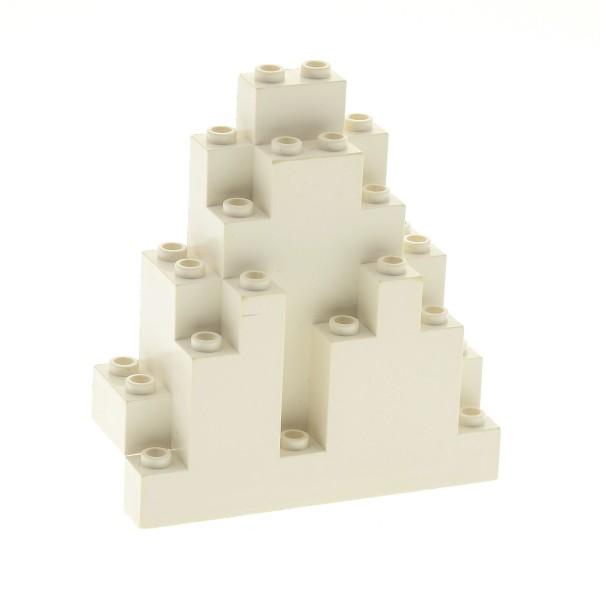 1 x Lego System Fels weiss 3x8x7 Felsen Panele Berg Stein Rock Mauer Wand Burg Castle für Set 4579 7417 9320 7412 4156230 6083