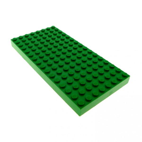1 x Lego System Platte B-Ware abgenutzt Bau Platte 8x16 grün 16 x 8 Noppen 8 x 16 dick Wiese Rasen Gras Fläche 44041 4181116 4204