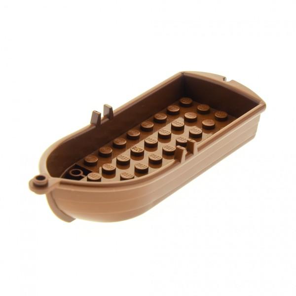 1 x Lego System Boot braun 14x5x2 Paddelboot Ruderboot Piraten Schiff Soldaten Indianer Insulaner Set 10040 6285 6276 6286 4709 6277 2551