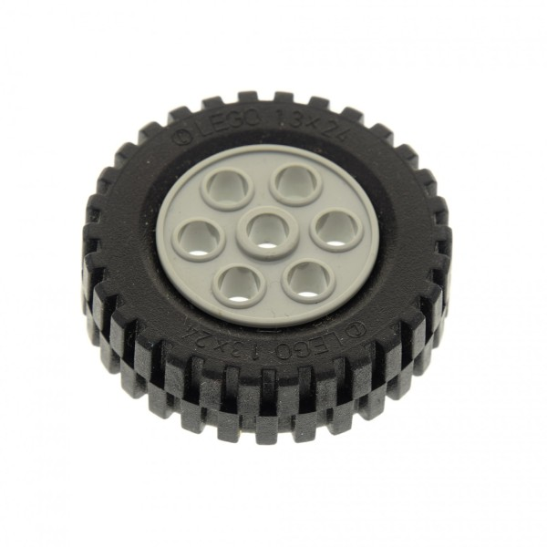 1 x Lego Technic Rad schwarz 30mm D.x13mm Felge alt-hell grau Räder 13x24 Technik Model Team 2696 269626 4141535 2695c01