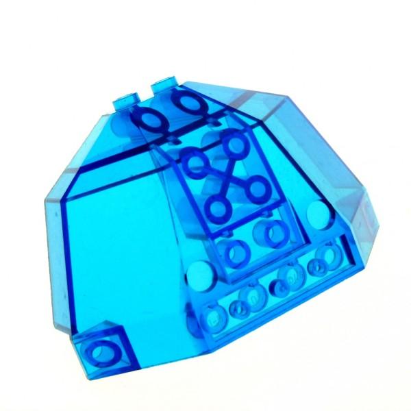 1 x Lego System Cockpit transparent dunkel blau 5x8x3 Ufo gewölbt Space Star Wars Kanzel Kuppel Fenster 6085