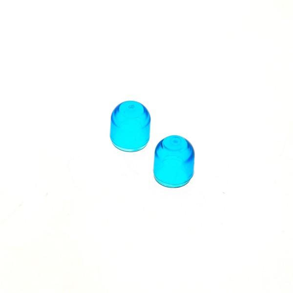 2 x Lego System Electric Licht Stein Kappe transparent dunkel blau Lampen Abdeckung farbig Light & Sound Set 5034 4773
