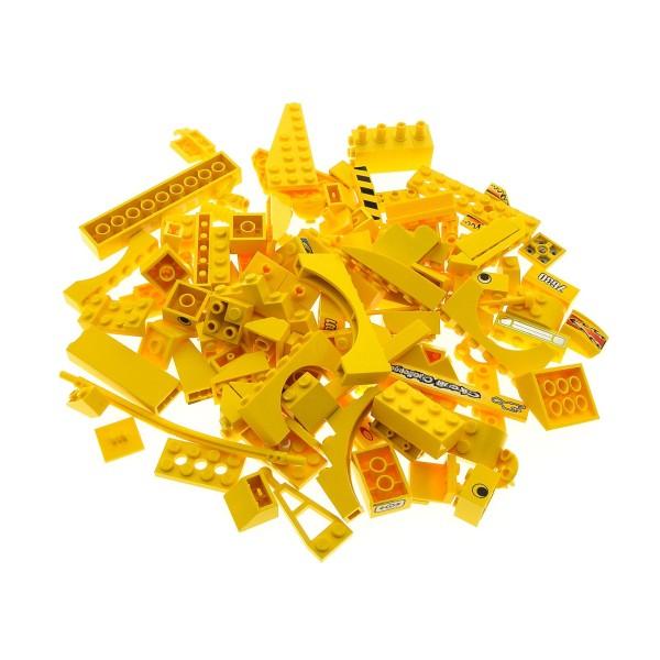 100 Lego System Sonderteile Bau Steine Teile gelb Form und Größe bunt gemischt z.B. Fenster Dach Bogen Autoteile
