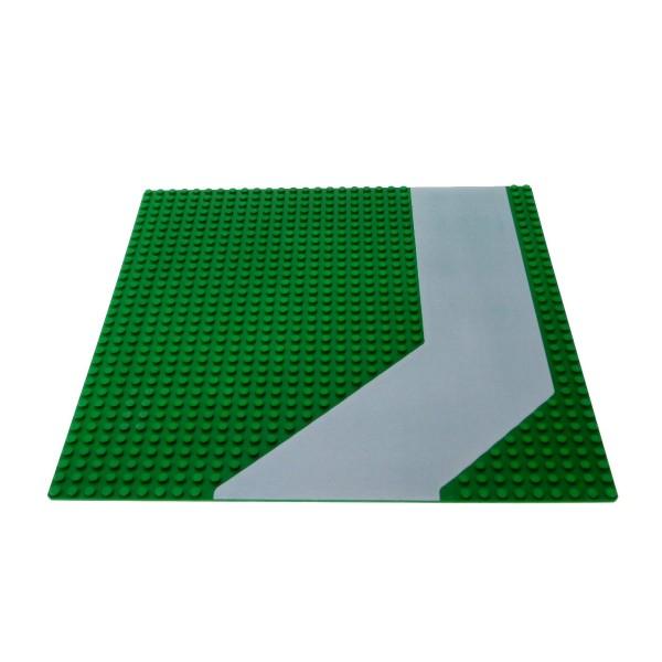 1 x Lego System Bau Platte 32x32 Weg grün grau 32 x 32 Noppen Gehweg Auffahrt Straße 6380 6598 1682 4478p01