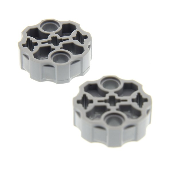 2 x Lego Bionicle Waffen Trommel neu-hell grau 2 Pin / 3 Achs Löcher Hero Factory Weapon Barrel Technic Star Wars 10240 70356 75059 10247 75083 75153 6039505 98585