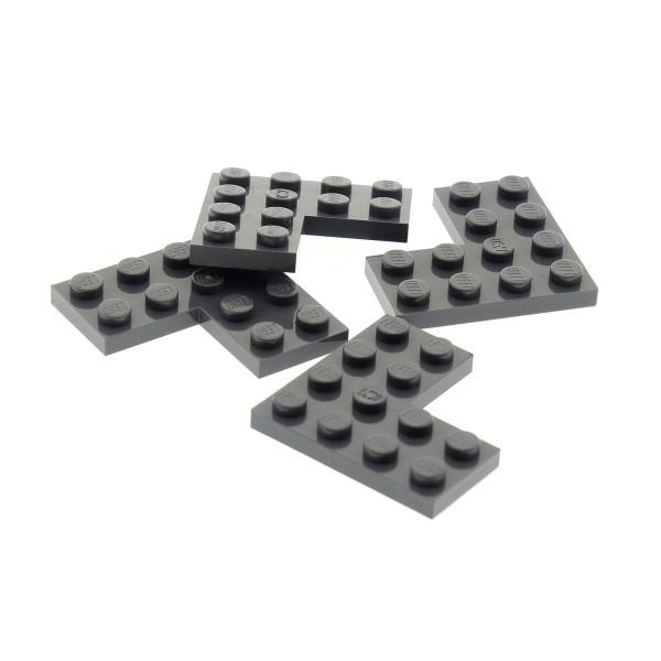 4 x Lego System Bau Stein neu-dunkel grau 4x4 Winkel Platte Ecke Eckstein Star Wars Set 75102 75187 75042 75156 75144 4539429 2639