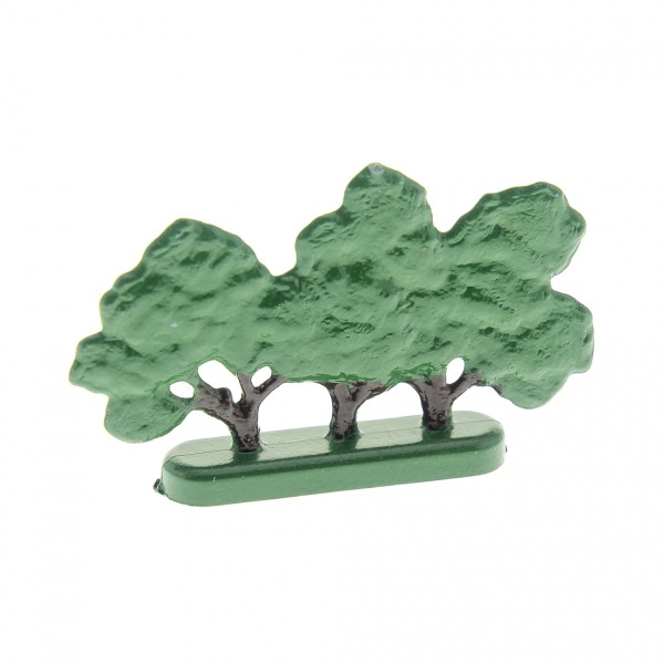 1 x Lego System Pflanze Baum grün Busch Laubbaum flach Base hole Basis Standfuss old Style 345 322 490 430 FTBushH