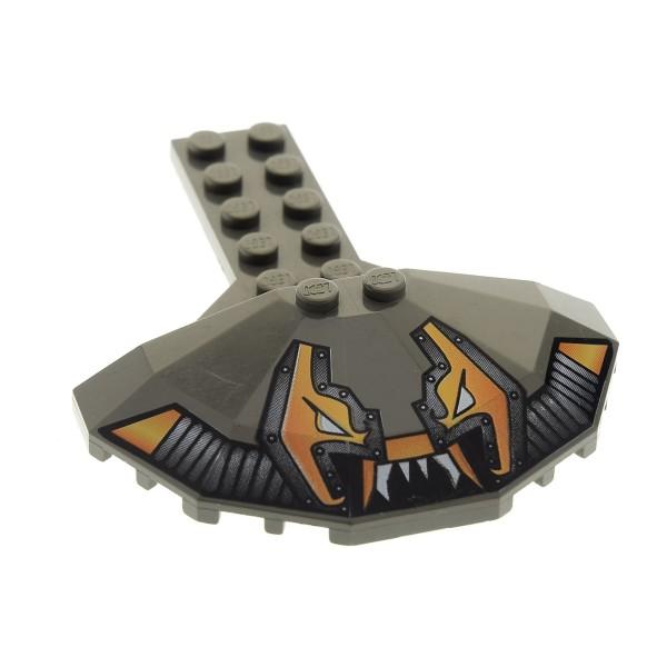 1 x Lego System Tragfläche alt-dunkel grau 2 x 6 mit 4 x 8 halber Untertasse und Stingray Aufdruck Space Ufo Panele rund Set 6199 6107 6198 30195pb01