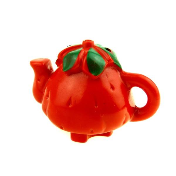 1 x Lego Duplo Geschirr Kanne rot Erdbeere Kaffee Tee Milch Puppenhaus Küche Zubehör Möbel Little Forest Friends 31221