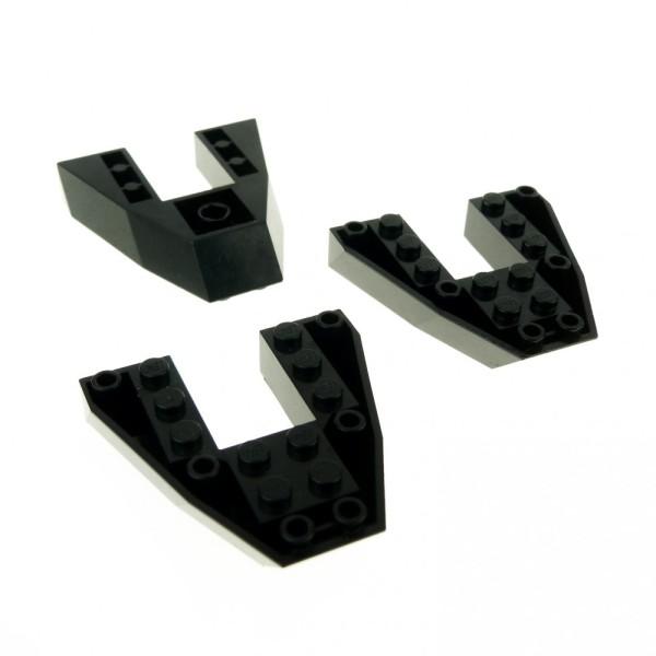3 x Lego System Boot Rumpf Bug Deck Keil Platte schwarz 6x6x1 Piraten Schiff 6483 6277 1660 6057 2626