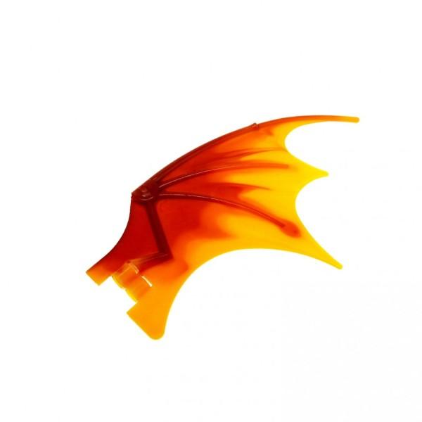 1 x Lego System Tier Drache Flügel dunkel rot orange 19 x 11 19x11 Drachenflügel Drachen Dragon Wing Flosse 7017 51342pb02