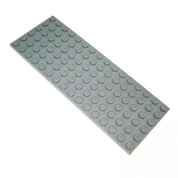 1 x Lego System Bau Platte neu-hell grau Noppen 6x16 Basic Zug Grundplatte Train Eisenbahn Star Wars 4211733 3027
