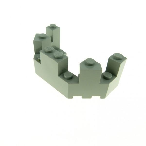 1 x Lego System Mauerteil alt-hell grau 4 x 8 x 2 1/3 Mauer Wand Zinne Turm Burg Castle 6066