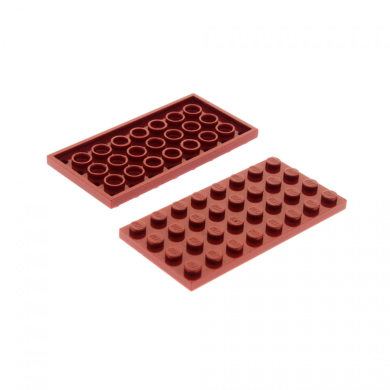 Lego 4 x Platte 3035  rot  4x8
