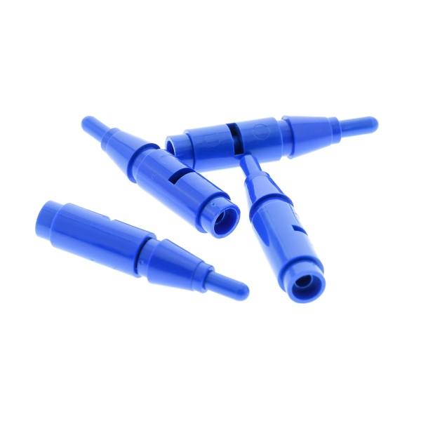 4 x Lego System Antenne blau 1x4 mit Technic Pin Verbinder blau 2L Schlitz und Kegel Stein 1x1 blau mit Nut Zylinder Trichter rund für 3851 Set 76003 75533 6211 4589b 62462 3957