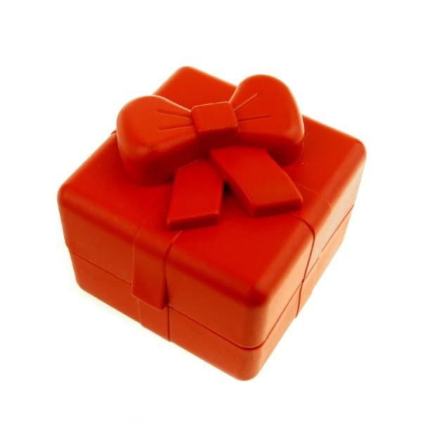 1 x Lego Duplo Geschenk rot Wohnzimmer Puppenhaus Möbel Dolls Present Box 31284