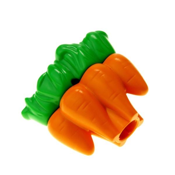 1 x Lego Duplo Pflanze Karotte orange grün Möhren Lebensmittel Gemüse Zoo Farm Futter Nahrung Bauernhof 4217981 23230