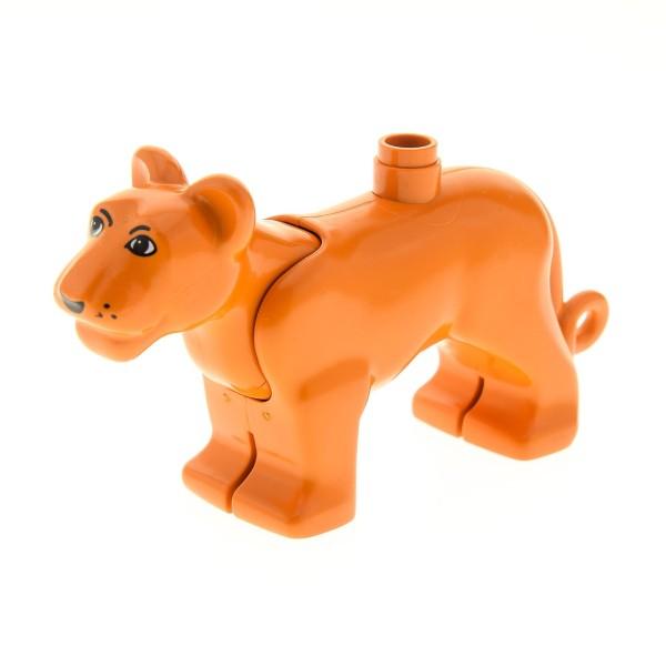 1 x Lego Duplo Tier Löwe erd dunkel orange braun Löwin Safari Zoo Zirkus big cat groß Katze bigcat01c01pb01