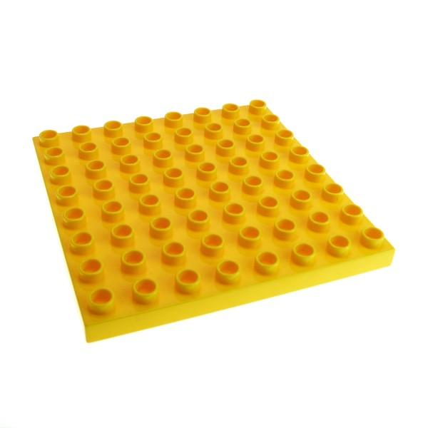 1 x Lego Duplo Bau Basic Platte gelb 8x8 Noppen 8 x 8 Zoo Puppenhaus Zug 3772 4249220 51262