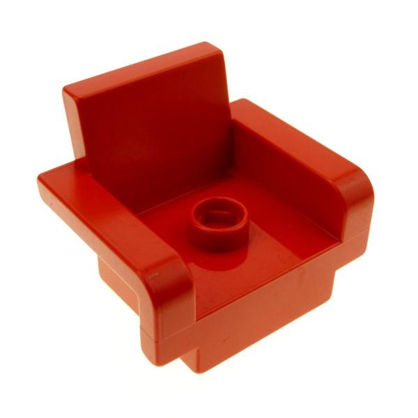1 x Lego Duplo Möbel Stuhl Sitz Sessel rot 2x3x2 mit Armlehne Wohnzimmer Puppenhaus 4885