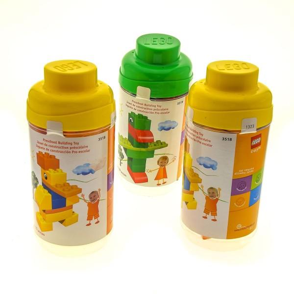 3 x Lego Duplo Basis Set Explore Imagination 3518 Ente gelb 3519 Papagei grün mit Boxen incomplete unvollständig