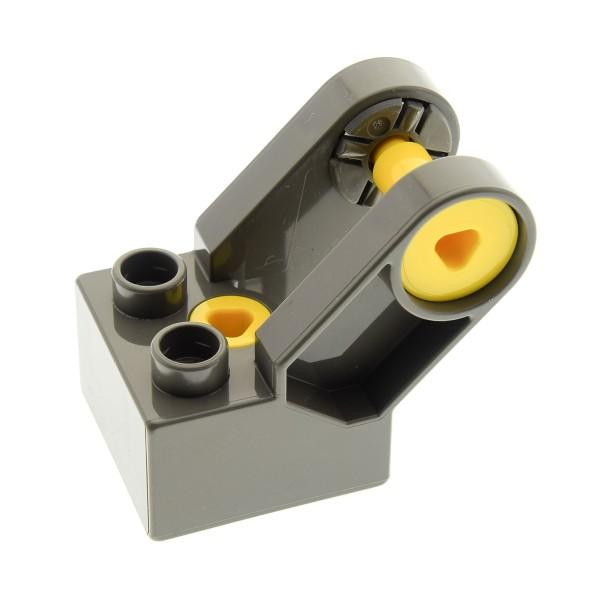 1 x Lego Duplo Toolo Stein alt-dunkel grau 2 x 2 Arm Baustein Verbindung Verbinder Winkelform 6284c01