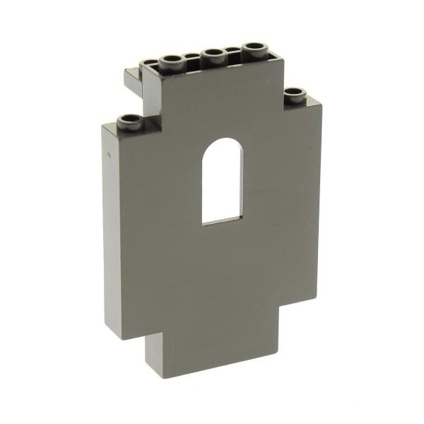1 x Lego System Mauerteil alt-dunkel grau 2 x 5 x 6 mit Fenster Loch Panele Mauer Wand Castle Burg 6097 6098 6091 4444