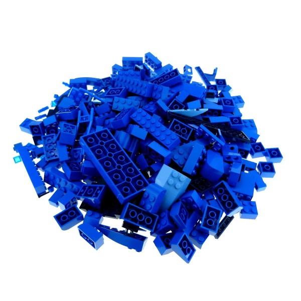 0,5 kg Lego System Basic Steine Sondersteine sortiert nach Farbe hell dunkel blau Kiloware Form der Steine zufällig gemischt 500 g Sortierung