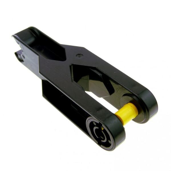 1 x Lego Duplo Toolo Bau Stein Arm schwarz 2 x 6 2x6 Verbindung Verbinder mit Clip und Schraube 6275c01